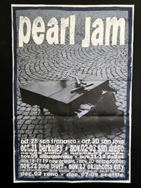 Pearl Jam concert poster by Ames Bros.