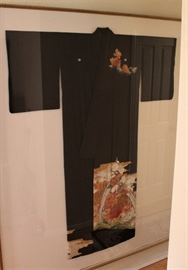 Man's Kimono. The reflection on this large display case gives off such a glare. You must see it in person.