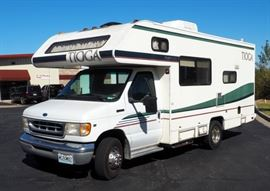 "1997 Ford Fleetwood Tioga Class ""C"" Motor Home, Recreational Vehicle, RV, Econoline E350, VIN # 1FDKE30S8VHB58930, Easy to Park!"