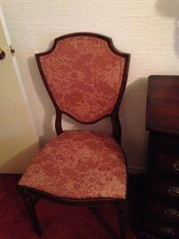 Upholstered bedroom chair