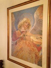 Angelic framed art