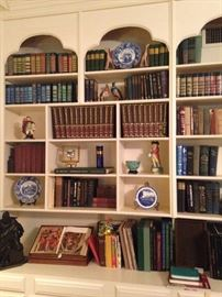 Books, blue & white selections, and other figurines