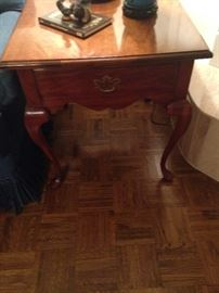 One of two Queen Anne side tables