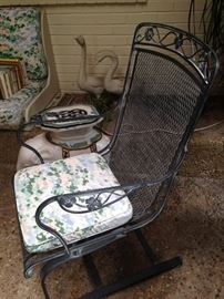 One of two spring chairs