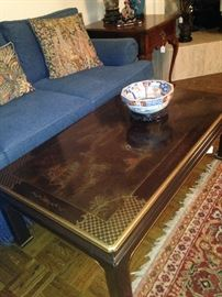 Intricate detail on the coffee table