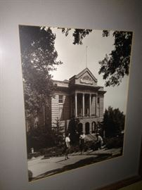 Framed picture of the historic Smith County Court House, Tyler, Texas