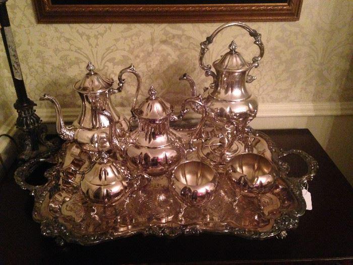 Gorgeous silver plate tea set