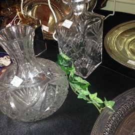 Pressed glass carafe and decanter