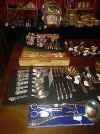 Lovely sterling silver dinnerware