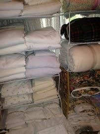 Sheets, blankets, and other linens