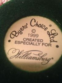 Byers' Choice-1999 created especially for Williamsburg