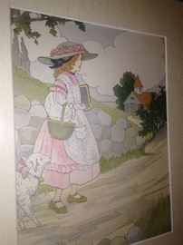 """""""Mary Had a Little Lamb"""" - art by Blanche Fisher Wright"""