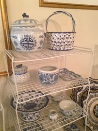 More blue & white accents