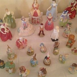 Beatrix Potter's figures from Beswick England & Royal Doulton Ladies