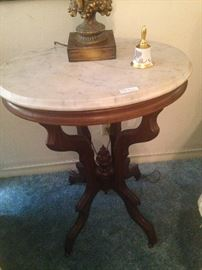 Marble top antique table