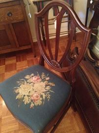 Lovely chair with floral seat