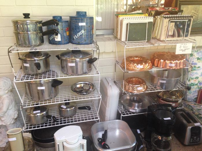 Great cookware, molds, and small appliances