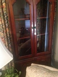One of two display cabinet