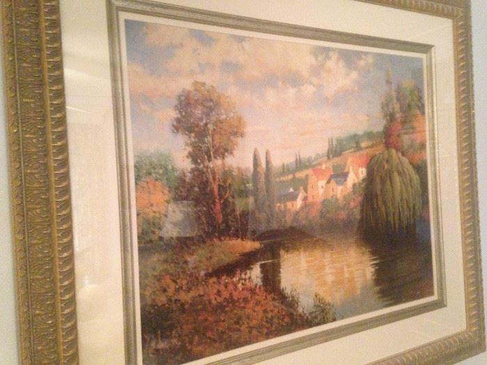 Lovely art - country river scene