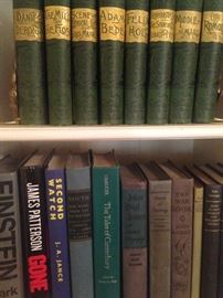 Handsome green and gold books