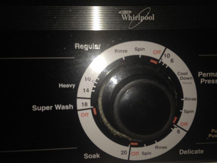 Heavy duty Whirlpool washer