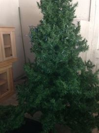 Christmas tree waiting to be decorated