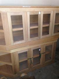 Unfinished 4 door TV cabinet and a 3 door TV cabinet