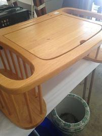 Natural wood -bed tray