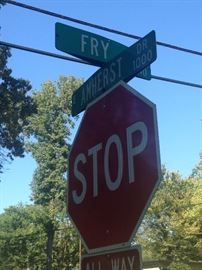 Get ready to stop when you get near Amherst and Fry.