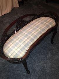 Quite unique antique vanity bench