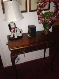 Staffordshire-like dog lamp