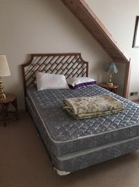 One of two matching queen beds