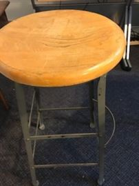 Vintage drafting stool - super sturdy