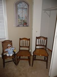 antique rockers and chairs