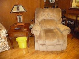 LIFT chair ,recliner/ glass lamp ( their is a pair