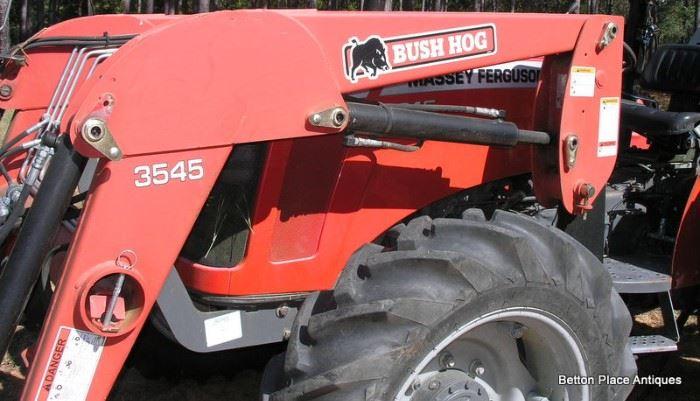Front end loader is a Bushhog 3545