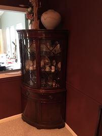 Beautiful Vintage Mahogany Corner Cabinet