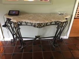 Marble & Iron Entry/Sofa Table