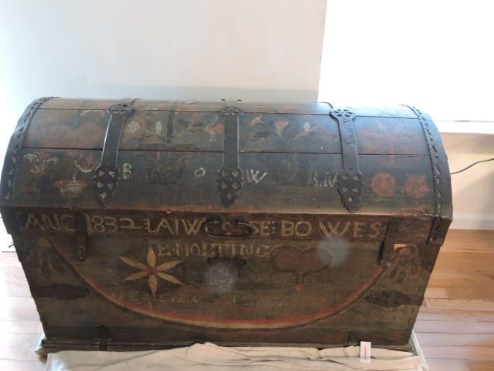 Sea chest painted