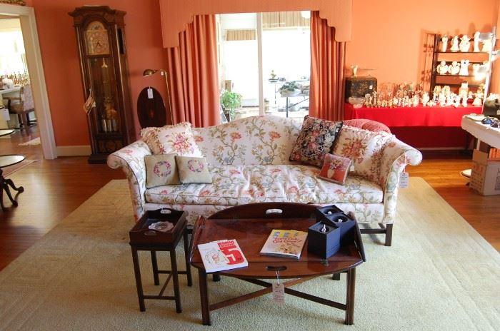 Luxury sofa, coffee table