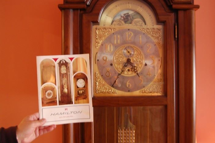 Hamilton Grandfather clock with great chimes
