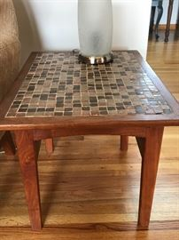 Arden Riddle side table with a mosaic top added by client