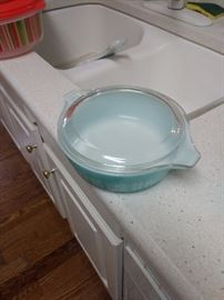 My favorite colored Pyrex!!