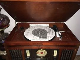 VIEW OF RECORD PLAYER