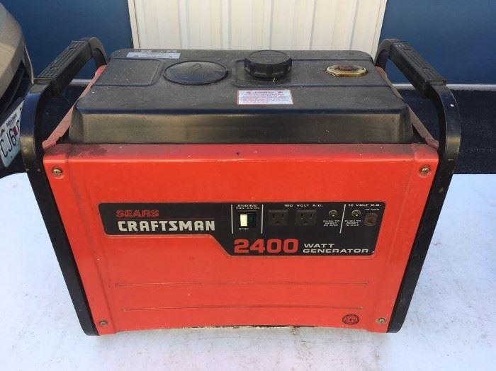 CRAFTSMAN 2400 WATT GENERATOR