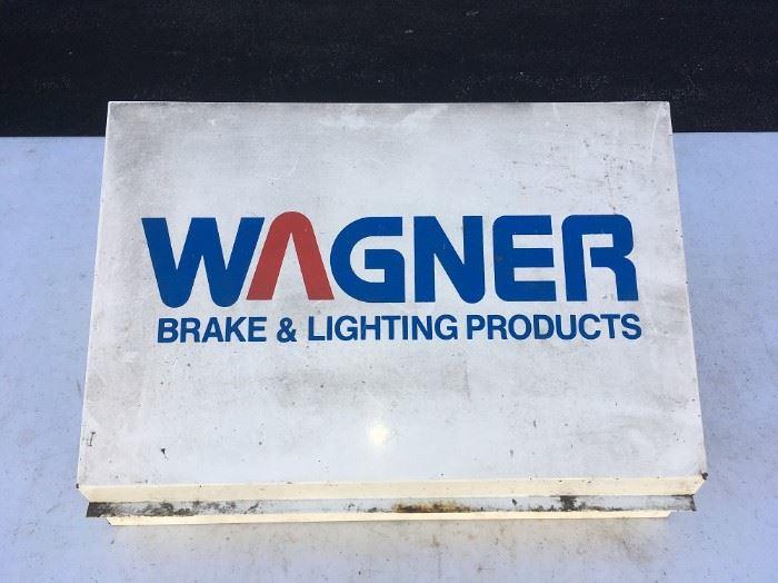 WAGNER BRAKE & LIGHTING PRODUCTS STORAGE/DISPLAY METAL CASE