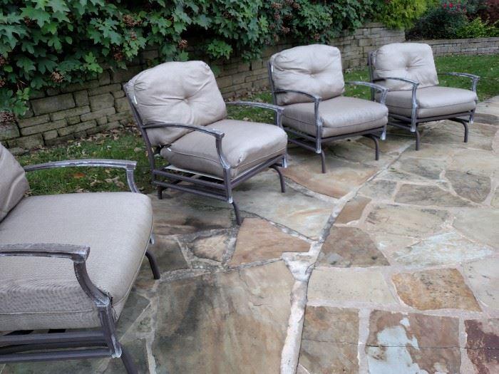 Outdoor patio armchairs