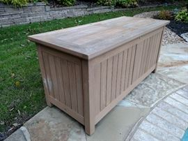 Teakwood patio storage box