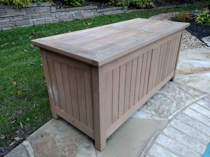 Teakwood patio storage box