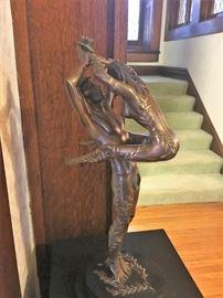 Erte Amants bronze figurine